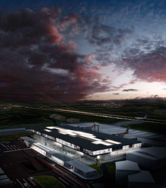 Concurso para la Nueva Terminal Aeroportuaria de A Coruña  ACXT-IDOM - 2011 por Poliedro Estudio