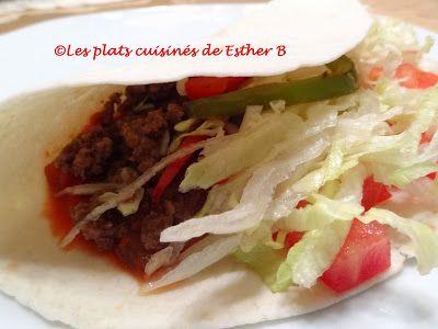 Les plats cuisinés de Esther B: Tacos au bœuf