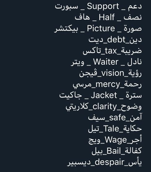 Pin By اوراق الخريف On English Arab In 2021 Learn English Vocabulary English Language Learning English Words