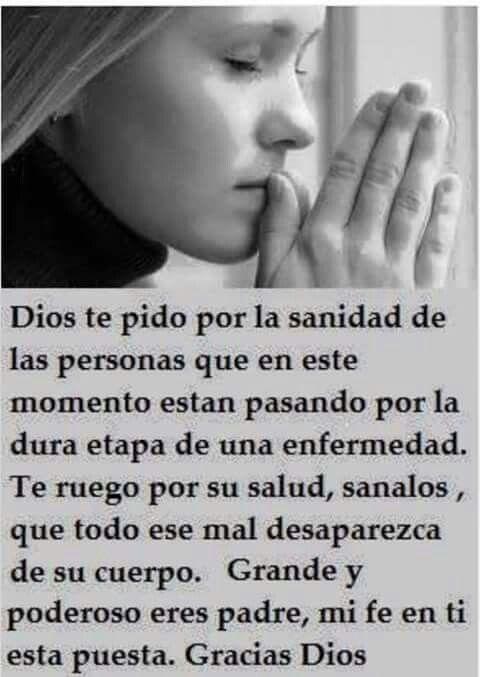 Oración por los enfermos.