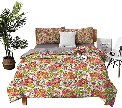 Dragon Vines Four Piece Set Of Single Paisley Pattern Bed Sheets Set Solid Color Quilt Cover W90 Xl90 Bed Sheet Sets Patterned Bedding Bed Sheets