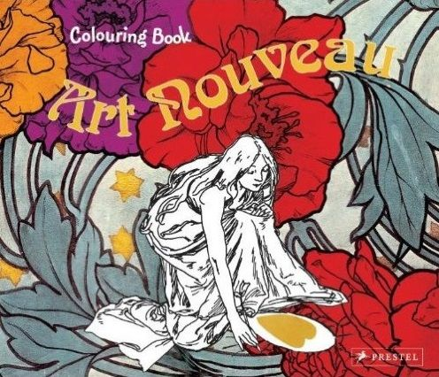 «Colouring Book Art Nouveau». Encantador libro de actividades para explorar y completar las obras maestras del Modernismo http://www.veniracuento.com/