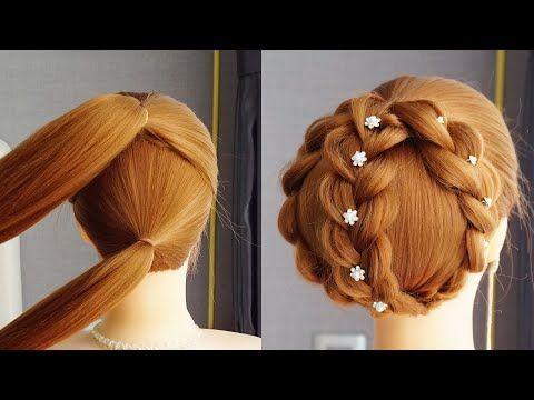 Fryzura Z Warkoczy Fryzura Srednie Wlosy French Braid Bun For Beginners Youtube In 2020 French Braid Buns Bun Hairstyles Hairstyles For Gowns