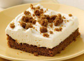 Gingerbread cookie mix creates the sweet and spicy crust and topper for a dreamy cheesecake.
