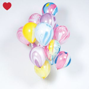 Meri meri marble regenboog ballonnen @jetjesenjobjes