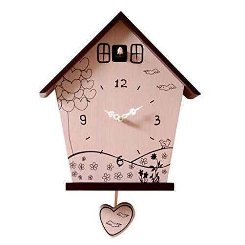 Ranranjj Bird Clock Simple Cuckoo Clock Modern Wall Clock With Pendulum Low Energy Consumption And Long In 2020 Wall Clock Modern Diy Clock Wall Pendulum Wall Clock