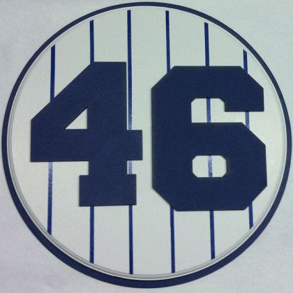 Retired Number 46 Plaque Yankees Andy Pettite