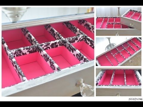 diy makeup drawer organizers vanity beauty products gadgets pinterest videos make up. Black Bedroom Furniture Sets. Home Design Ideas