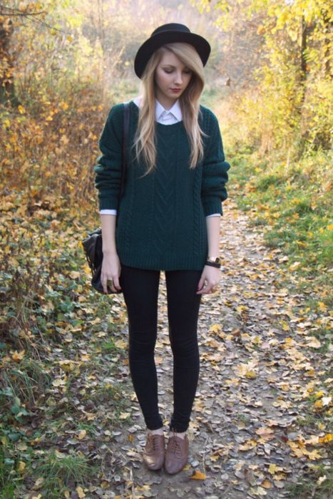 love the oxfords sweater and bowler hat!: