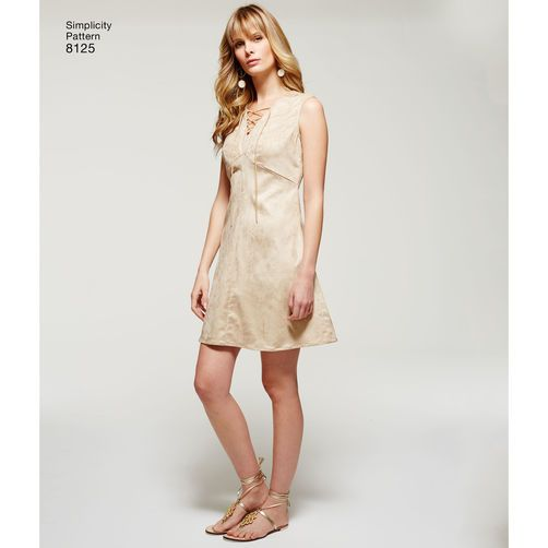 Simplicity Pattern 8125 Misses' Project Runway Dresses with Bodice Variations