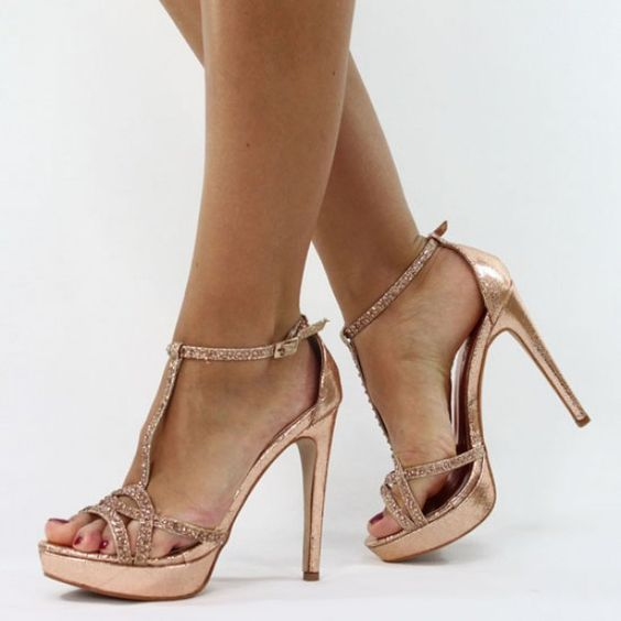 rose gold pumps jumex high heels pumps glitzer strass rose gold. Black Bedroom Furniture Sets. Home Design Ideas