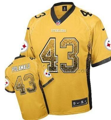 ... Mens Elite Black Jersey Nike NFL Pittsburgh Steelers Fanatical Version  43 Pinterest Troy polamalu Mens Nike Pittsburgh Steelers 7 Ben  Roethlisberger ... 1d407d134