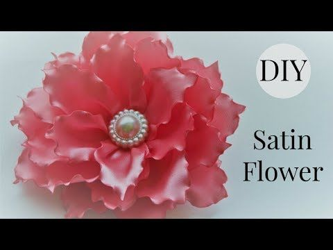 Diy Ribbon Flower Hair Clip Satin Flower Tutorial Singed Flower Youtube Fabric Flower Tutorial Ribbon Flower Tutorial Flower Clip Diy