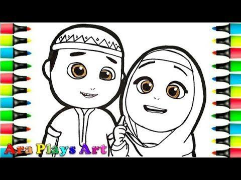 11 Gambar Kartun Muslimah Untuk Mewarna Nussa Dan Rara 1 Kartun