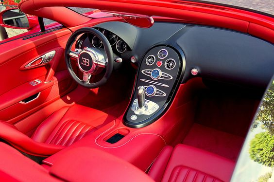 Red on red on red    		Triple the red with the world's only Bugatti Veyron Grand Sport Red  Edition interior.  Courtesy of Countach Fan for giving me the heads up  about this awesome car at the Peninsula Hotel.  WIll post more  pictures in the coming days.