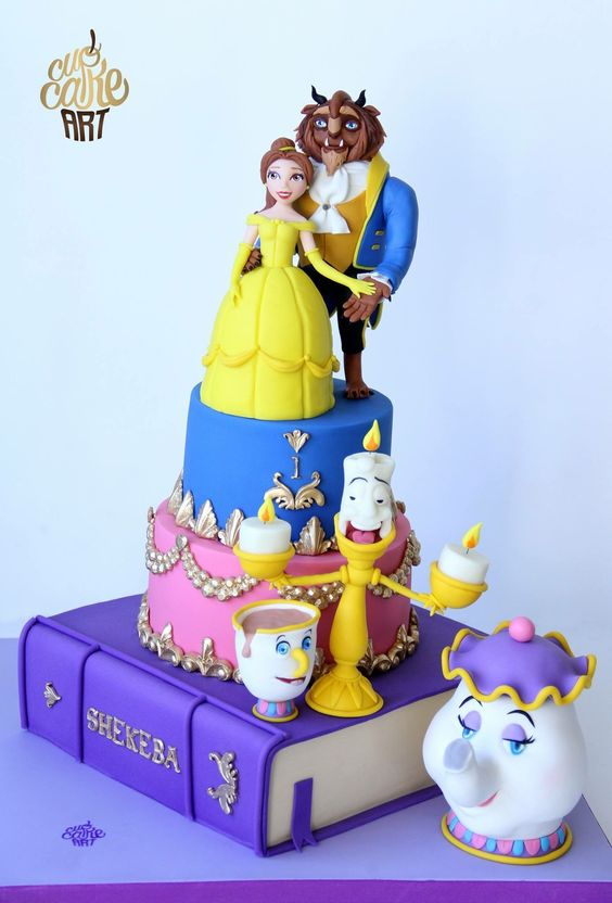 "The cake of ""Beauty and the beast"":"