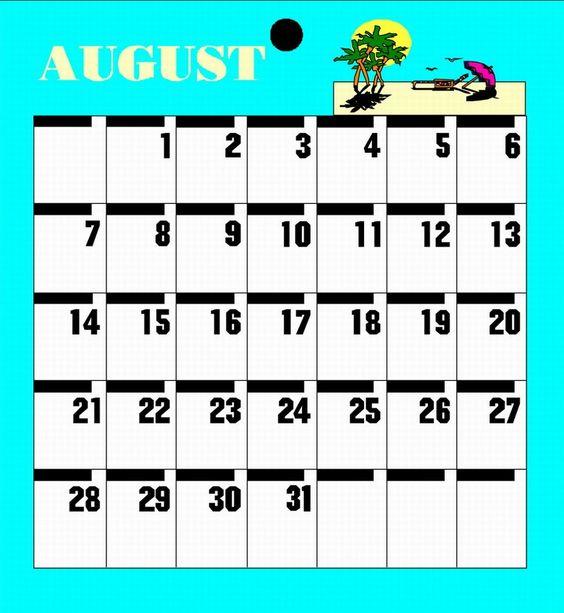 Calendar Template For Kindergarten 4 Calendar Pinterest