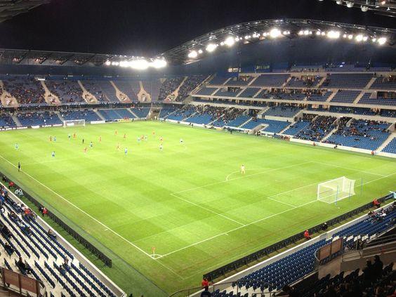 Interior Stade Océane, Le Havre, Francia. Capacidad 25,178. Equipo local Le Havre AC.