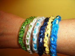 If your kids are just learning how to crochet, then this is the perfect tutorial for them. They'll love to show off these Chain Stitch Bangle Bracelets to all their friends.