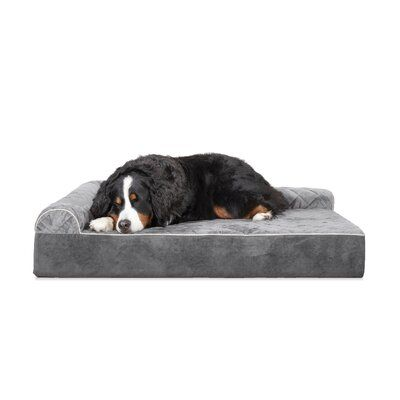 Tucker Murphy Pet Griego Quilted L Chaise Lounge Dog Bed Sofa Size Extra Large 11 H X 52 W X 41 5 D Color Gray Couch Pet Bed Dog Bed Dog Sofa Bed