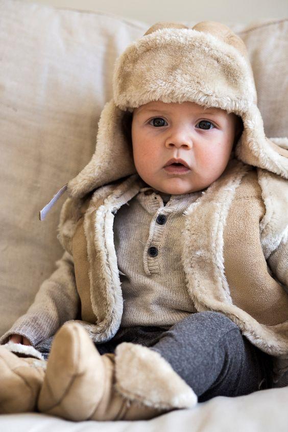 cosy sheepskin baby