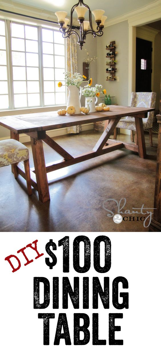 DIY Dining Table - Free plans to build this Restoration Hardware table... LOVE IT.: