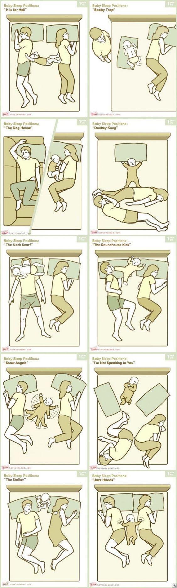 Baby Sleep Position....so true
