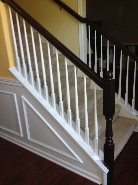 Best I Used General Finishes Java Gel Stain And Hand Painted The Railings It Used To Be Light Oak 400 x 300