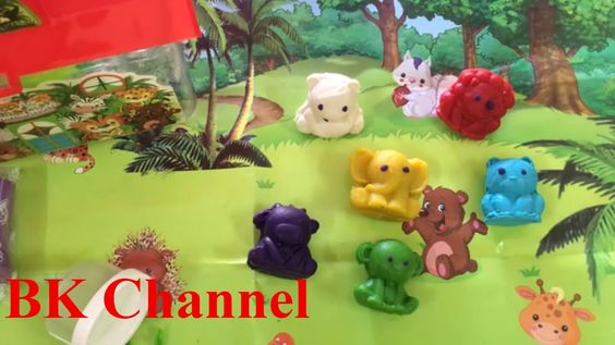 Play and Learn Colors with Play Doh Zoo Animals Mold Fun set & Creative ...