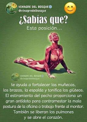 Posturas que te ayudan ! #salud