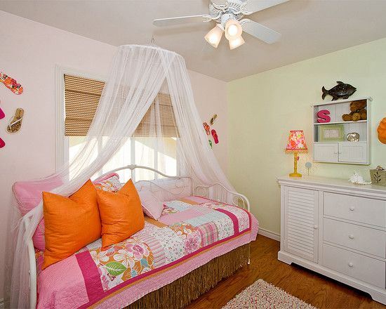 """The Canopy Over The Day Bed."""" """"bed Net For Teen Girl Room"""