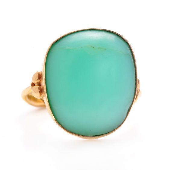 Peruvian Opal ring by Emily Amey Jewelry