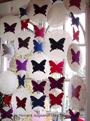 Butterfly curtain. So cool... but do I have time to make this?