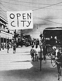 "December 23, 1941: General MacArthur declares Manila an ""Open City."""