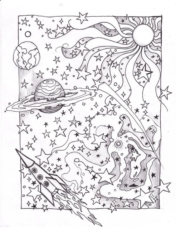 celestial coloring pages - photo#32