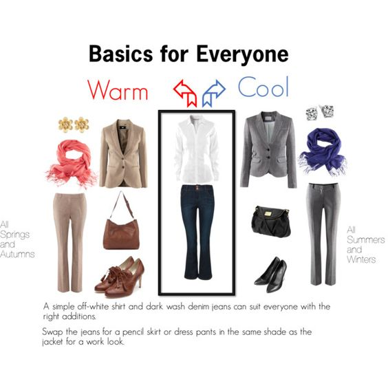 Customising Basics by katestevens on Polyvore I guess warm type will fit me better #Coloranalysis