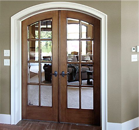 Arched french doors house pinterest google salas de - Double interior doors with glass ...