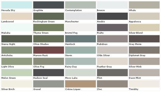 Paint Color Chart House Paint Colors And Paint Colors On
