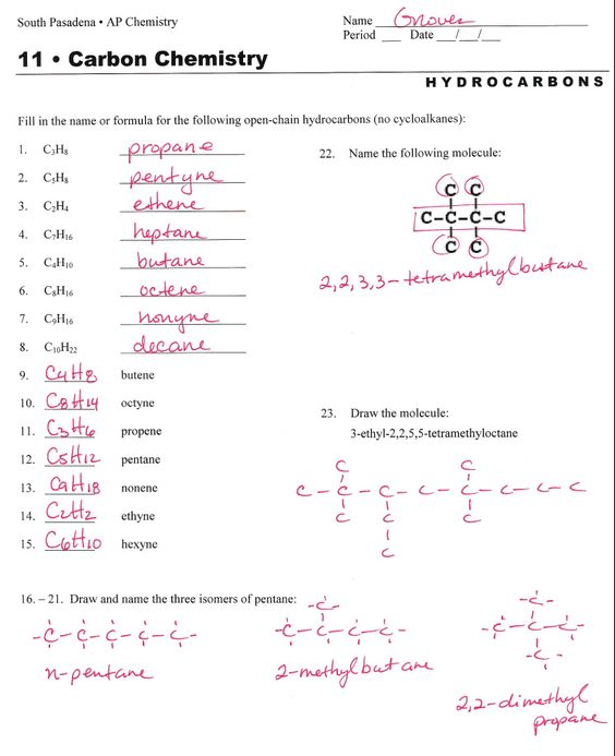 Printables Nomenclature Worksheet worksheets on pinterest hydrocarbon nomenclature naming hydrocarbons practice worksheet answers
