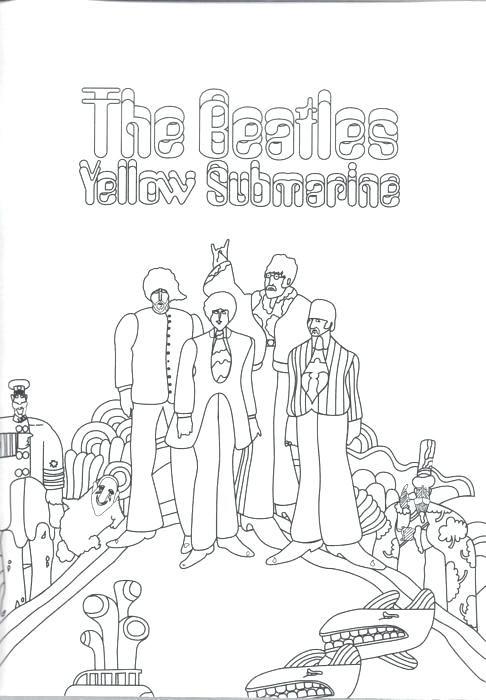 Beatles Coloring Book Coloring Book Yellow Submarine Coloring Pages Beatles Yellow Submarine Colouring Book The Beatles Yellow Submarine Album Beatles Artwork