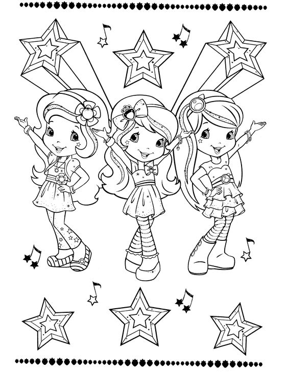 Strawberry Shortcake Coloring Page Sellos Digitales Strawberry Shortcake Birthday Coloring Pages