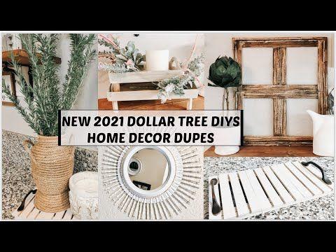 New 2021 Dollar Tree Diy Home Decor Dupes Youtube In 2021 Diy Dollar Tree Decor Dollar Store Diy Decorations Spring Decor Diy