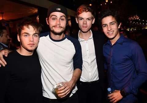 Thomas meets Dylan's Teen Wolf co-stars