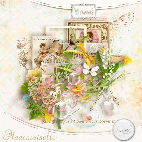 Mademoiselle [fdesign_k_mademoiselle] - €4.00 : My Scrap Art Digital, Passion for Digital Scrapbooking