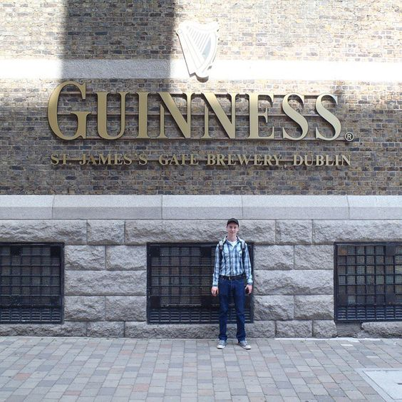 Just before the group tour of the Guinness Brewery, in Dublin, Ireland. #samueldengel
