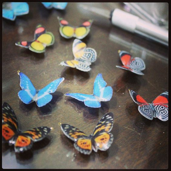 Making resined butterflies ;)