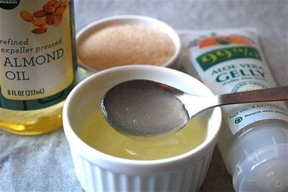 Make your own sugar scrub. Sounds divine!