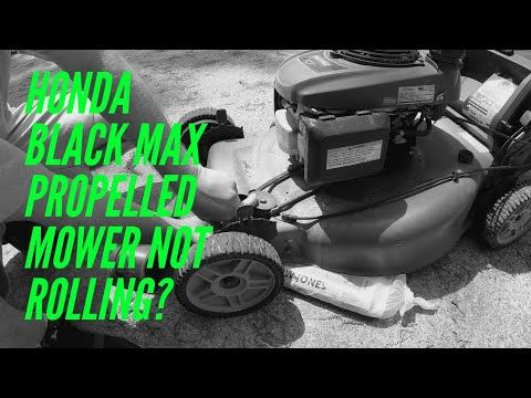 Honda Black Max Propelled Mower Wheels Not Turning Gonewithjon Mower Lawn Mower Wheels Honda