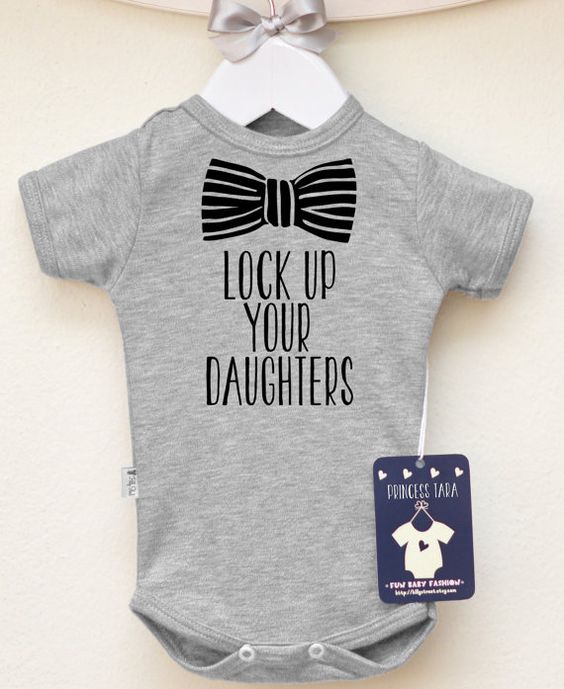 Lock Up Your Daughters Baby Boy Clothes. by LittlePrincessTara