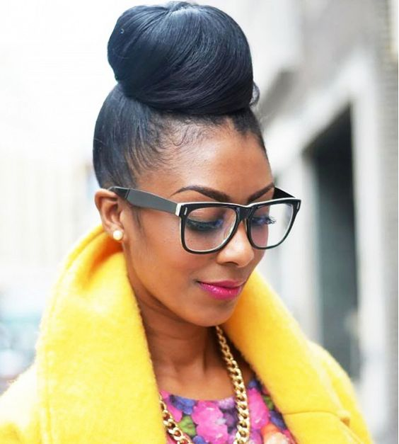 Astounding Styles For Natural Hair High Bun Hairstyles And Bun Hair On Pinterest Hairstyle Inspiration Daily Dogsangcom